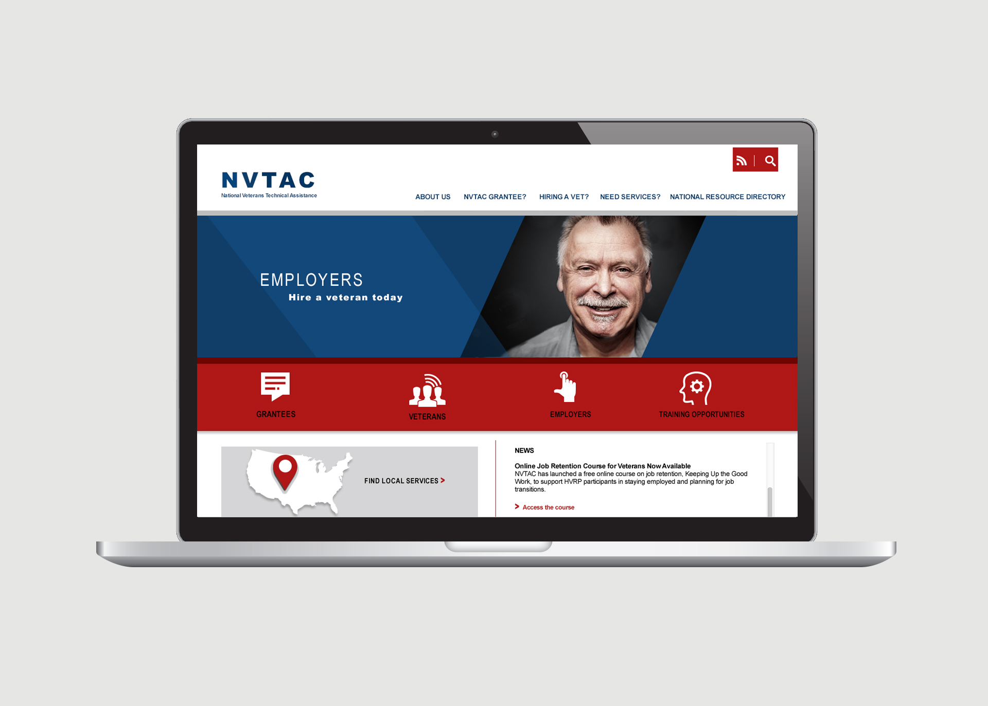 NVTAC web design